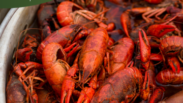 Low Calories in Boiled Crawfish